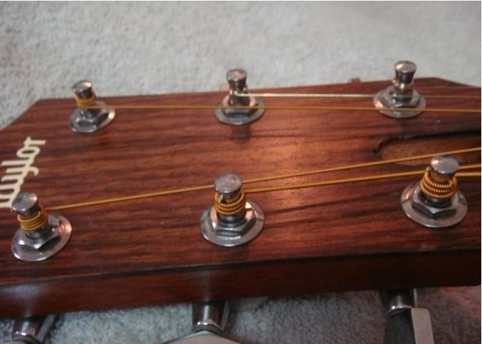 吉他教学——最棒的换弦方法 图文详解