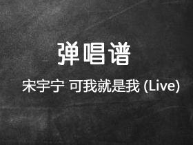 宋宇宁《可我就是我 (Live)》吉他谱C调吉他弹唱谱